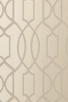 Paste The Wall Champagne Surface Print Lattice Geo Wallpaper Sample