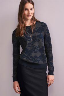 Floral Jacquard Sweater