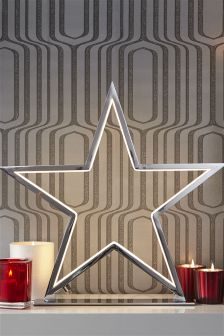 Collection Luxe Chrome Neon Star