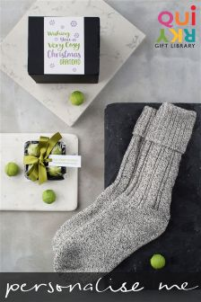 Personalised Socks And Chocs Christmas Gift Set By Quirky Gift Library