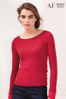 Armani Jeans Pink Logo Knit