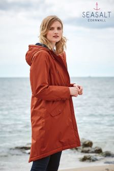 Seasalt Dark Cinnamon Encompass Coat