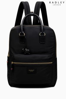 Radley Black Brecon Large Zip Top Backpack