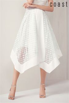 Coast Mint Maysa Burnout Skirt