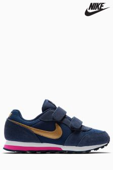 Nike Navy/Gold MD Runner 2 Velcro