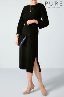 Pure Collection Black Knitted Cashmere Dress