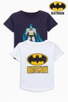 Short Sleeve Batman® T-Shirt Two Pack (3mths-6yrs)