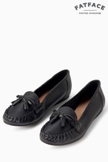 Fat Face Black Avington Tassel Shoe