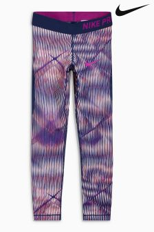 Nike Purple Printed Performance Legging