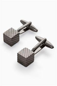 Textured Cube Cufflinks
