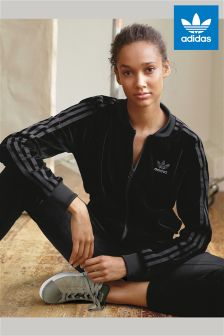 adidas Originals Black Velvet Track Top