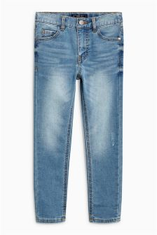 Jersey Look Denim Super Skinny Jeans (3-16yrs)