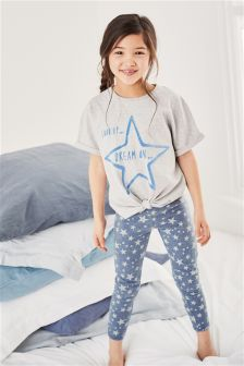 Star Print Legging Pyjamas (3-16yrs)