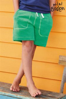 Boden Green Towelling Shorts