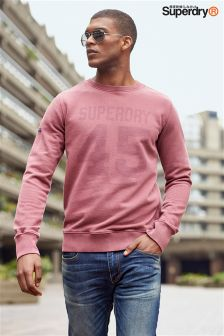 Superdry Red Heritage Wash Crew Neck Jumper