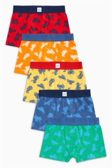 Bright Car Print Trunks Five Pack (2-16yrs)
