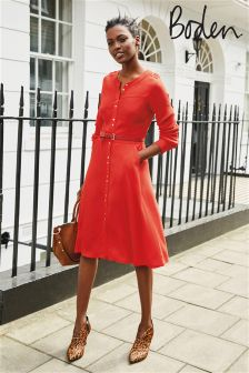 Boden Post Box Red Ashbourne Dress