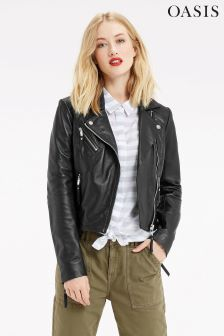 Oasis Black Edie Leather Jacket