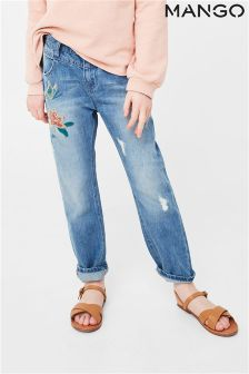 Mango Kids Girls Embroidered Jean