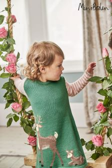Boden Green Forest Friends Knitted Dress