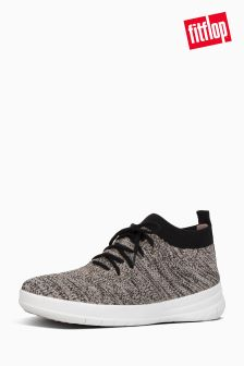 FitFlop™ Black/Nude Uberknit Slip On High Top Sneaker