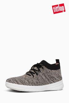 FitFlop™ Black/Nude Uberknit™ Slip-On High Top Sneaker
