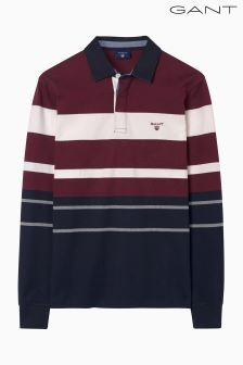 Gant Purple Multi Stripe Heavy Rugger Top