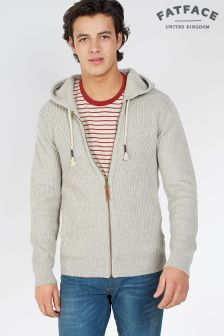 Fat Face Hessian Tain Zip Through Hoody