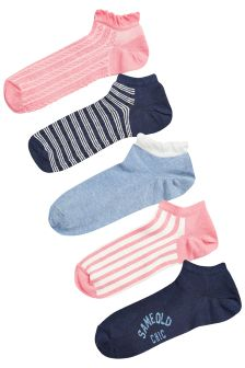 Low Rise Trainer Socks Five Pack