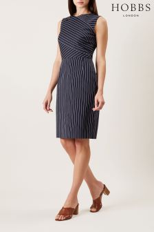 Hobbs Blue Paige Shift Dress