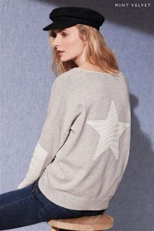 Mint Velvet Star Long Sleeve Knit