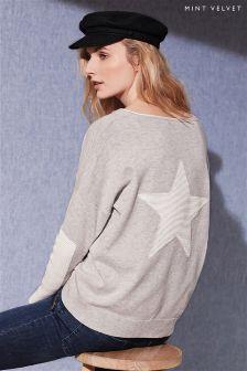 Mint Velvet Star Long Sleeve Knit
