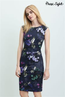 Phase Eight Navy Emma Floral Print Dress