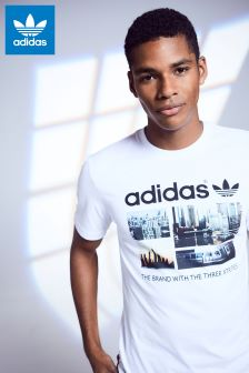 adidas Originals White Photo T-Shirt
