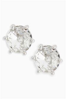 Platinum Plated Stud Earrings