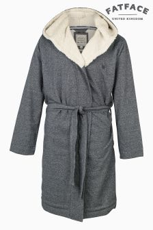 FatFace Charcoal Borg Lined Dressing Gown