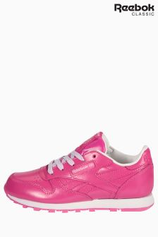 Reebok Classics Pink Classic Leather Metallic