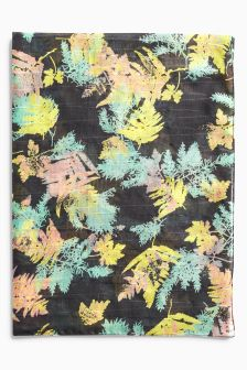 Sparkle And Floral Print Scarf