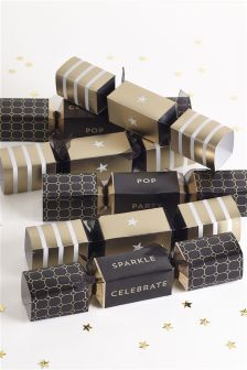 Set Of 6 Gold Crackers