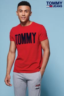 Tommy Hilfiger Denim Red Logo Tee