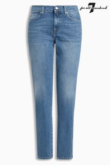 7 For All Mankind Vintage Mid Wash High Waist Slim Jean