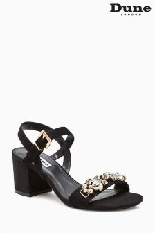 Dune Black Moonray Embellished Sandal