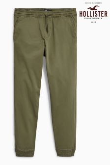 Hollister Olive Cuffed Trouser