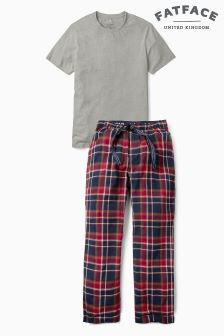 Fat Face Red Pyjama Set