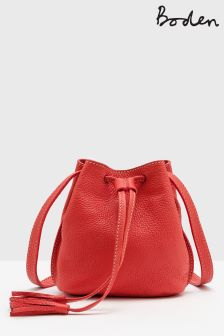 Boden Pink Mini Tassel Pouch Bag