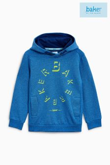 Baker By Ted Baker Blue Graphic Hoody