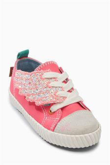 Low Top Wing Trainers (Younger Girls)