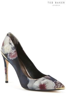 Ted Baker Black Kawaap Chelsea Print Pointed Court Shoe