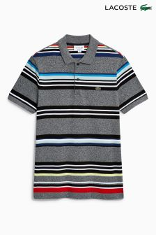 Lacoste® Grey/Black Stripe Polo