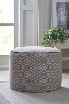 Grey Geometric Drum